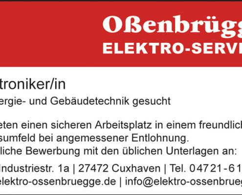 Stellenanzeige Elektroniker